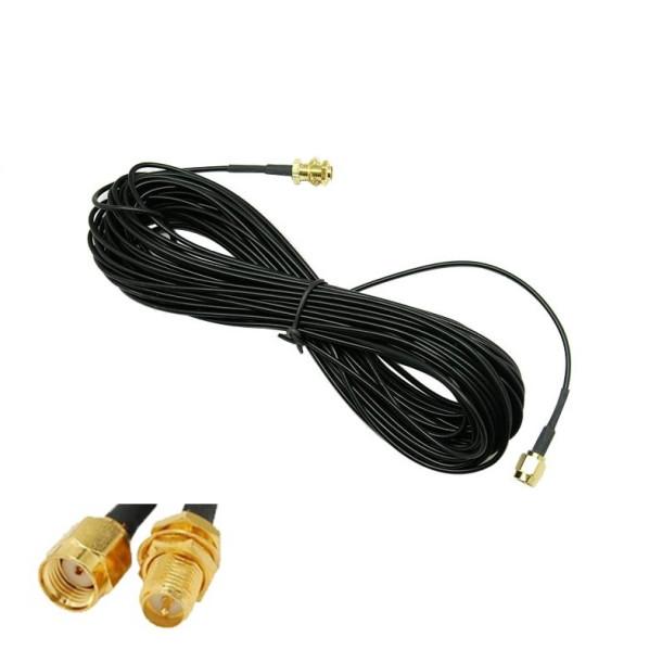 GSM antenne forlængerkabel Type 2 SMA-male til SMA-female 10m
