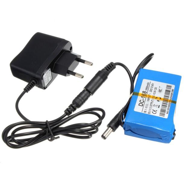 12V Lithium 1800mAh batteri med lader