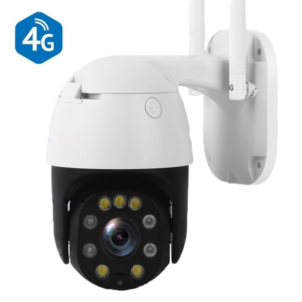 4G GSM kamera udendørs PTZ 5x zoom 5MP Hvid