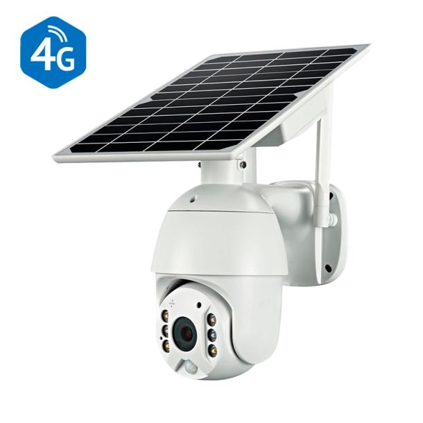 4G GSM udendørs PTZ solcelle kamera 2MP