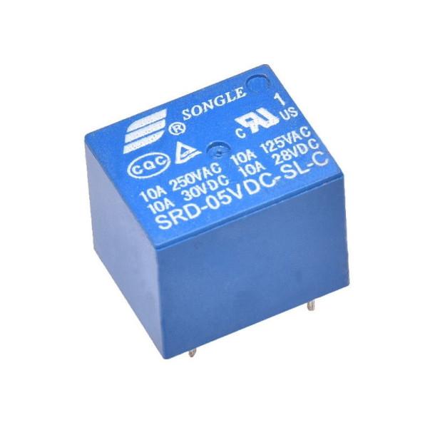 Mini relæ 5VDC 10A 30VDC/250VAC