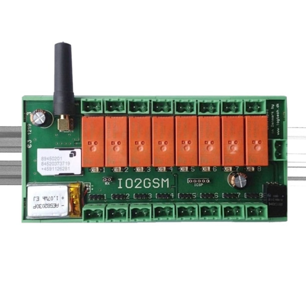 GSMCON 8-input /8-output DIN Skinne styring