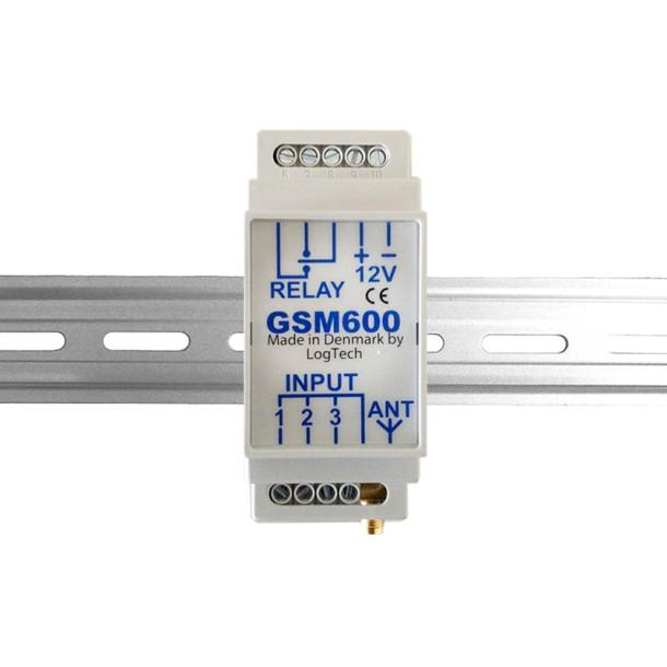 GSM600 DIN skinne styringsenhed