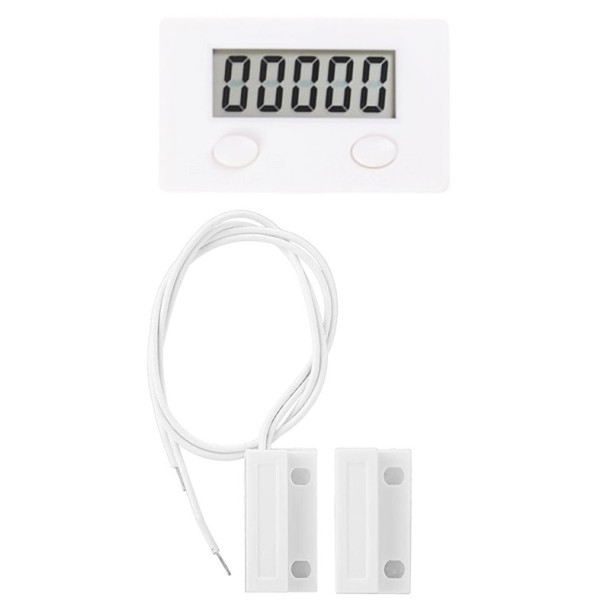 LCD tæller med magnetkontakt
