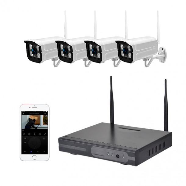 Smart kamerapakke 4ch m/4 kameraer 2MP