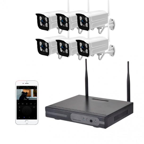 Smart kamerapakke 8ch m/6 kameraer 2MP